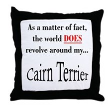 Cairn Terrier World Throw Pillow