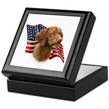 Vizsla Flag Keepsake Box