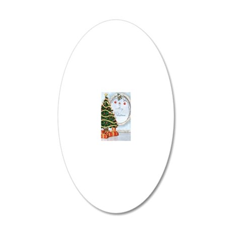 ct_1_6x4_pcard 20x12 Oval Wall Decal