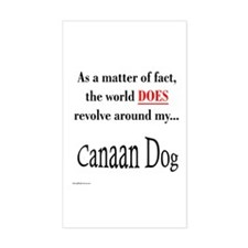Canaan Dog World Rectangle Decal