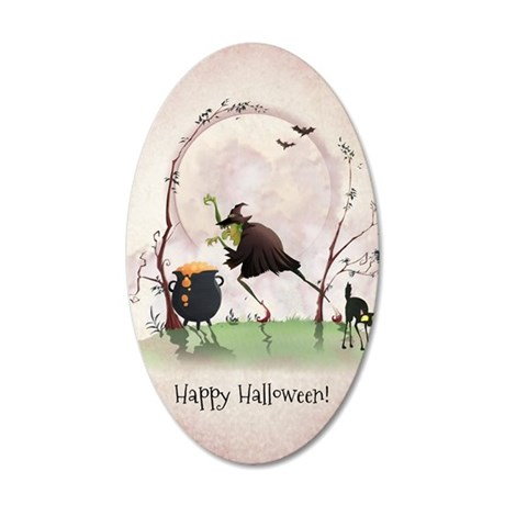 halloween2 35x21 Oval Wall Decal