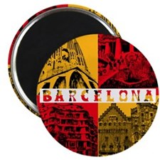 Barcelona_10x10_apparel_AntoniGaudí_RedYel Magnet