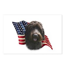 Wirehaired Griffon Flag Postcards (Package of 8)