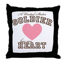 aussoldierhasmyheart Throw Pillow