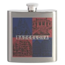 Barcelona_10x10_apparel_AntoniGaudí_BlueRed Flask