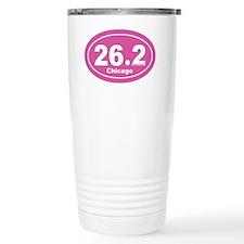 26.2 chicago marathon pink dk 2 Ceramic Travel Mug