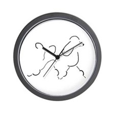 Trotting Poodle Wall Clock