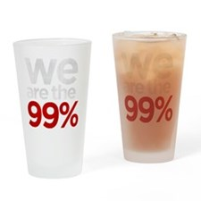 We are the 99% stacked KO Drinking Glass