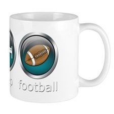 Eat Sleep Football : Blue Mug