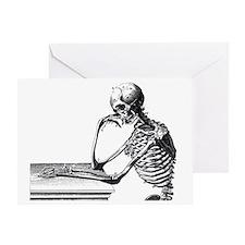Skeleton Thinker Greeting Card