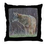 Wild Coyote Throw Pillow