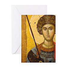 Byzantine Art. Greece. icon with Sai Greeting Card
