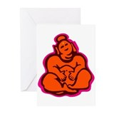 Happy Buddha Greeting Cards (Pk of 10)