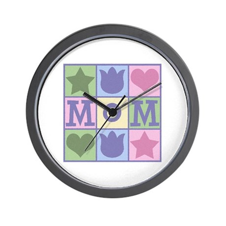 Fun Mom Quilt Squares Wall Clock