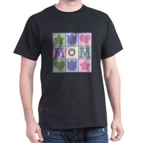 Fun Mom Quilt Squares Dark T-Shirt