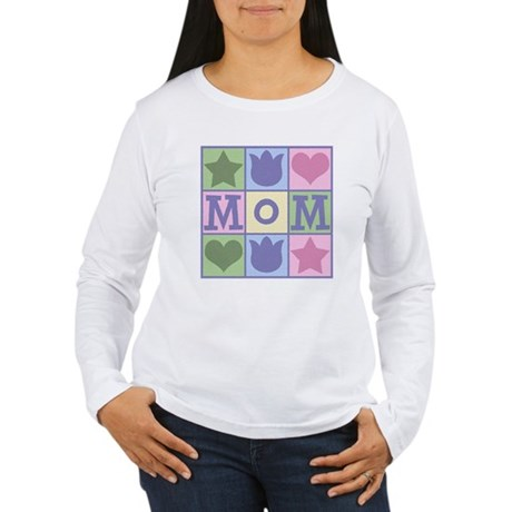 Fun Mom Quilt Squares Women's Long Sleeve T-Shirt