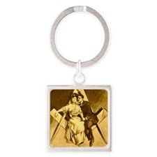 Freemason Love on the Square Square Keychain