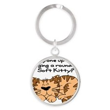 SoftKittyround Round Keychain