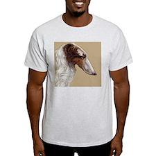 BorzoiHeadTanBkgnd T-Shirt