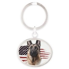 usa2 Oval Keychain