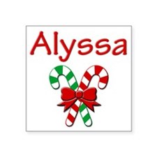 "alyssa Square Sticker 3"" x 3"""