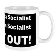 anti socailist walks talksdbutton Mug