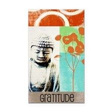 gratitude Rectangle Car Magnet