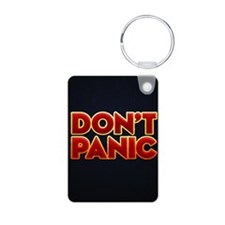 dont panic Aluminum Photo Keychain