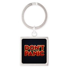 dont panic Square Keychain