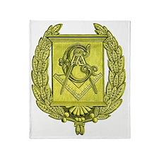Masonic Gold Emblem Throw Blanket
