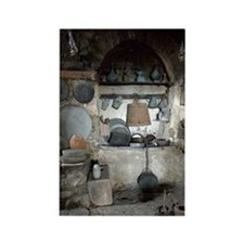 Greece, Meteora. Kitchen of Grand Rectangle Magnet