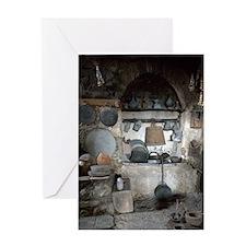 Greece, Meteora. Kitchen of Grand Me Greeting Card