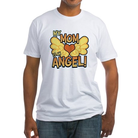 My Mom Angel Fitted T-Shirt