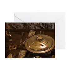 Meteora. Place settings in dining ha Greeting Card