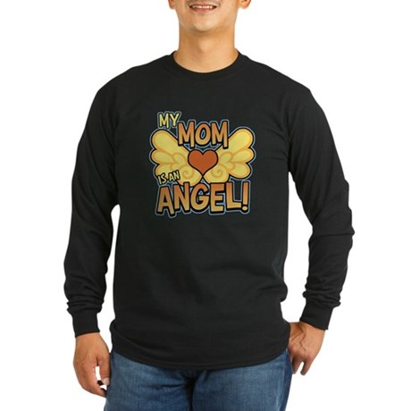 My Mom Angel Long Sleeve Dark T-Shirt