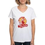 I know SUDOKU Women's V-Neck T-Shirt