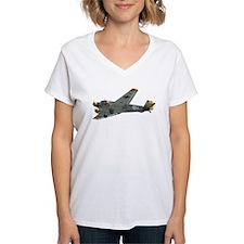 Junkers JU-52 tri-motor Women's V-Neck T (white)