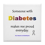 Diabetes Pride Tile Coaster