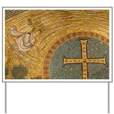 Ravenna. Mosaics adorning the apse in th Yard Sign