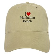 """""""I Love Manhattan Beach"""" Baseball Cap"""
