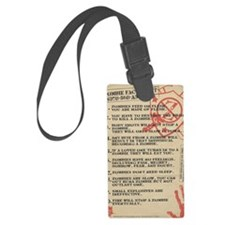 zombie-fact-sheet Luggage Tag