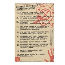 zombie-fact-sheet Postcards (Package of 8)