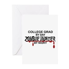 Zombie Hunter - College Grad Greeting Cards (Pk of