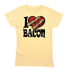 I Love Bacon 2 Girl's Tee
