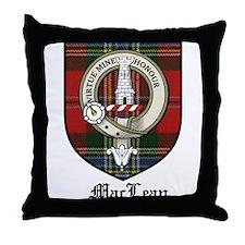 MacLean Clan Crest Tartan Throw Pillow