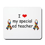 Unique Special ed teacher Mousepad