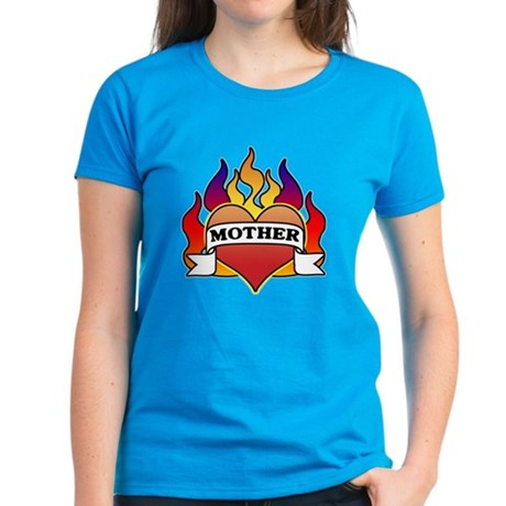 Mother Heart Tattoo Women's Dark T-Shirt