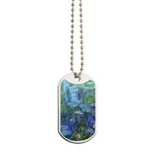 Journal Monet Lilies Dog Tags