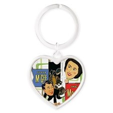 Fibber McGee And Molly Heart Keychain
