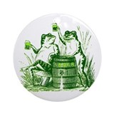 Drunk Frogs St Patricks Day Ornament (Round)